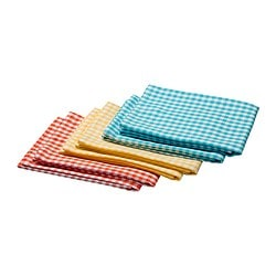 "SINJA dish towel, assorted colors, checkered Length: 28 "" Width: 20 "" Package quantity: 2 pack Length: 70 cm Width: 50 cm Package quantity: 2 pack"