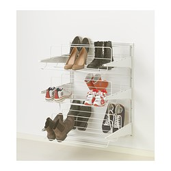 ALGOT wall upright/shoe organizer, white