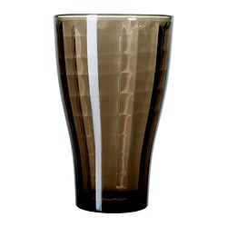 "BYIG glass, brown Height: 6 "" Volume: 13 oz Height: 14 cm Volume: 38 cl"