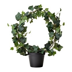 FEJKA artificial potted plant, Ivy Diameter of plant pot: 12 cm Height: 35 cm
