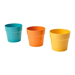 MAJSKORN plant pot, assorted colours Outside diameter: 12 cm Max. diameter flowerpot: 10.5 cm Height: 11 cm