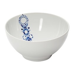 "PROMENAD bowl, dark blue, white Diameter: 6 "" Height: 3 "" Diameter: 16 cm Height: 8 cm"