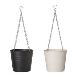 "SOCKER hanging planter, white/black Max. diameter inner pot: 7 ½ "" Height: 7 ½ "" Inside diameter: 7 ¾ "" Max. diameter inner pot: 19 cm Height: 19 cm Inside diameter: 20 cm"