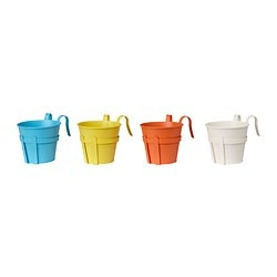 SOCKER plant pot with holder, assorted colours Length: 23 cm Width: 17 cm Outside diameter: 19 cm