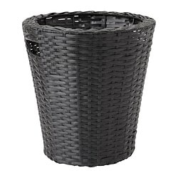 "KOKBANAN plant pot, indoor/outdoor, black Height: 12 ½ "" Outside diameter: 12 ¼ "" Max. diameter inner pot: 9 ½ "" Height: 32 cm Outside diameter: 31 cm Max. diameter inner pot: 24 cm"