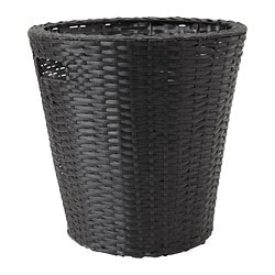 "KOKBANAN plant pot, black, indoor/outdoor Outside diameter: 15 ¼ "" Max. diameter inner pot: 12 ½ "" Height: 15 ¾ "" Outside diameter: 39 cm Max. diameter inner pot: 32 cm Height: 40 cm"