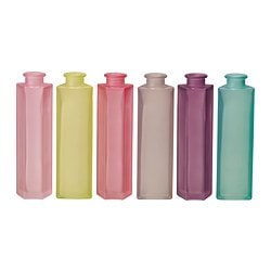 SOMRIG vase, bottle shape assorted colours Height: 21 cm