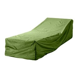 MUSKÖ cover for sun lounger, green Length: 200 cm Width: 60 cm Height: 40 cm