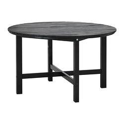 "ÄNGSÖ table, black-brown Diameter: 49 1/4 "" Height: 29 1/8 "" Diameter: 125 cm Height: 74 cm"