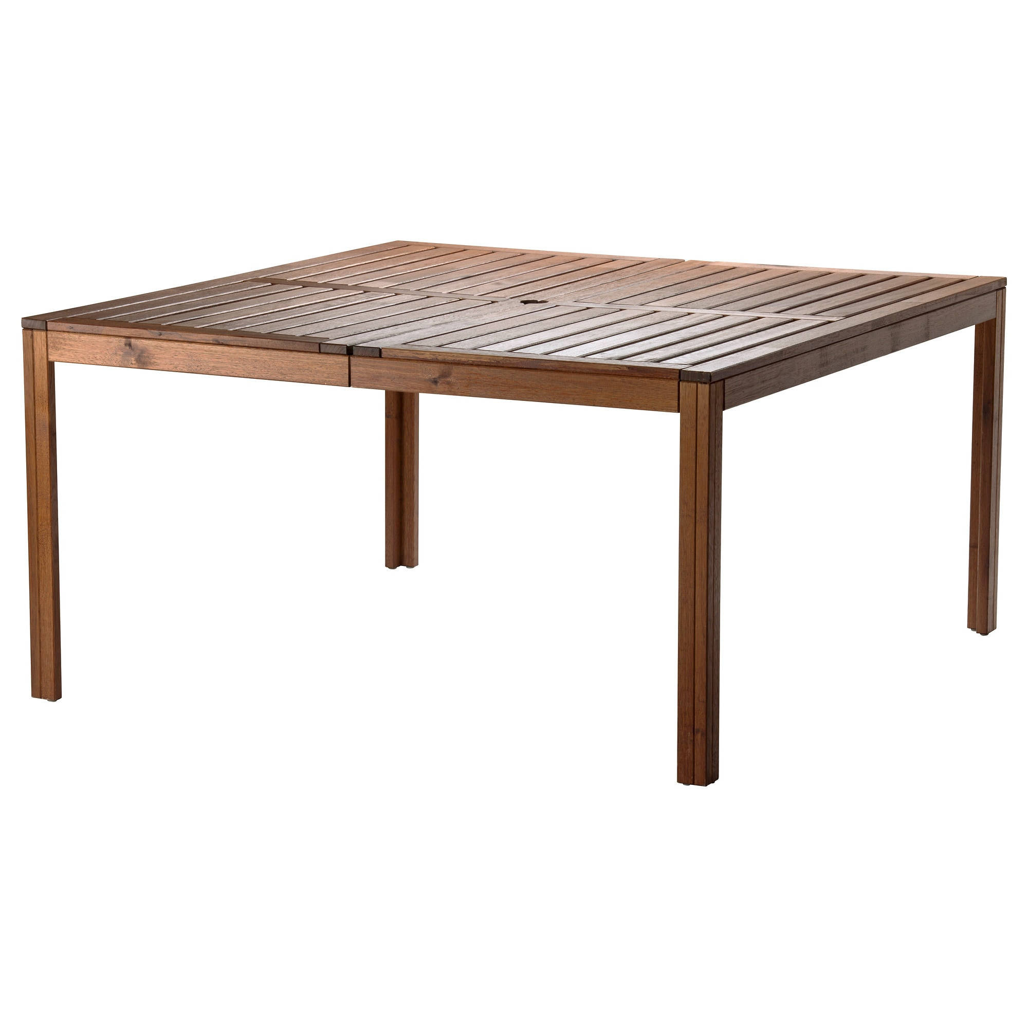 ÄPPLARÖ Table, Outdoor, Brown Brown Stained Length: 55 1/8  Part 40