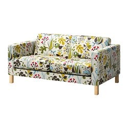 KARLSTAD cover two-seat sofa, Blomstermåla multicolour