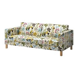 KARLSTAD cover three-seat sofa, Blomstermåla multicolour