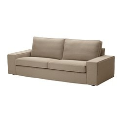 KIVIK cover three-seat sofa, Replösa beige