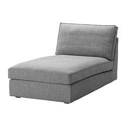 KIVIK cover for chaise longue, Isunda grey