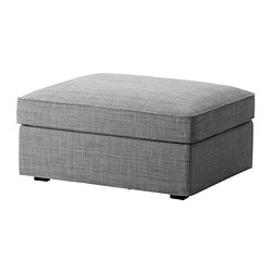 KIVIK cover for footstool with storage, Isunda grey