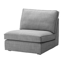 KIVIK one-seat section, Isunda grey Width: 90 cm Depth: 98 cm Seat depth: 60 cm