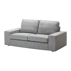 KIVIK cover two-seat sofa, Isunda grey