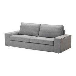 KIVIK cover three-seat sofa, Isunda grey