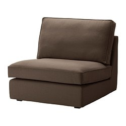 KIVIK one-seat section cover, Dansbo medium brown