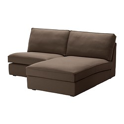 KIVIK one-seat section with chaise longue, Dansbo medium brown Width: 180 cm Depth: 163 cm Height: 83 cm