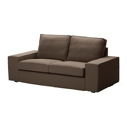 KIVIK cover two-seat sofa, Dansbo medium brown