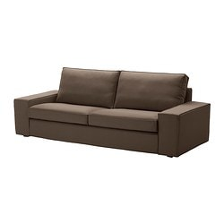 KIVIK three-seat sofa, Dansbo medium brown Width: 228 cm Depth: 95 cm Height: 83 cm