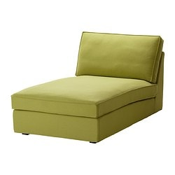KIVIK cover for chaise longue, Dansbo yellow-green
