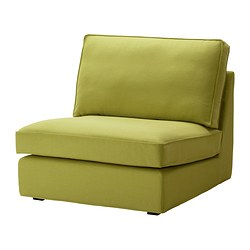 KIVIK one-seat section, Dansbo yellow-green Width: 90 cm Depth: 95 cm Height: 83 cm