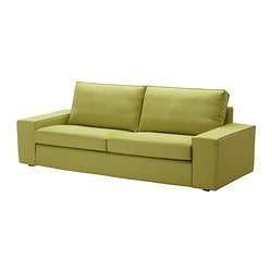 KIVIK three-seat sofa, Dansbo yellow-green Width: 228 cm Depth: 95 cm Height: 83 cm