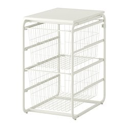 ALGOT frame/2 wire baskets/top shelf Width: 41 cm Depth: 60 cm Height: 72 cm