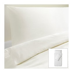 DVALA quilt cover and 2 pillowcases, white Quilt cover length: 200 cm Quilt cover width: 150 cm Pillowcase length: 50 cm