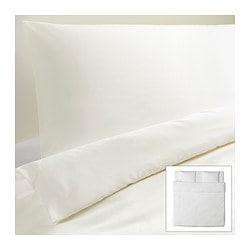 DVALA quilt cover and 2 pillowcases, white Quilt cover length: 220 cm Quilt cover width: 240 cm Pillowcase length: 50 cm
