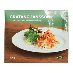 GRATÄNG JANSSON gratin w marinated herring, frozen Net weight: 600 g
