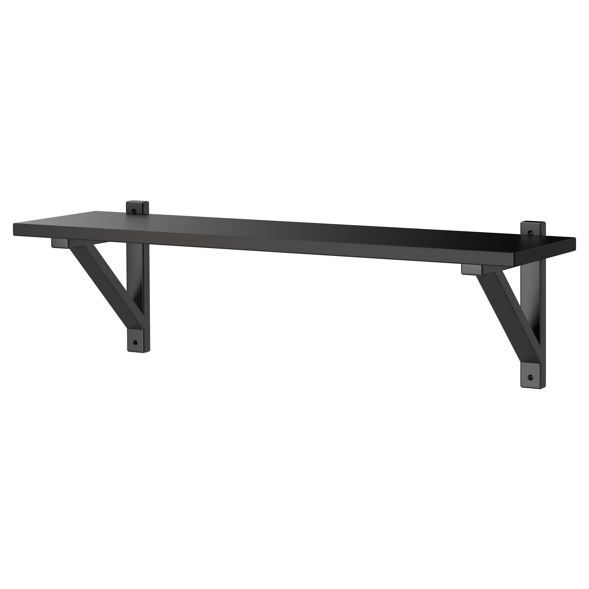 Wall shelves shelf brackets ikea ekby hemnes ekby valter wall shelf black brown black width 31 amipublicfo Gallery