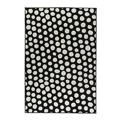 "ULLGUMP rug, low pile, white, black Length: 6 ' 5 "" Width: 4 ' 4 "" Area: 27.88 sq feet Length: 195 cm Width: 133 cm Area: 2.59 m²"