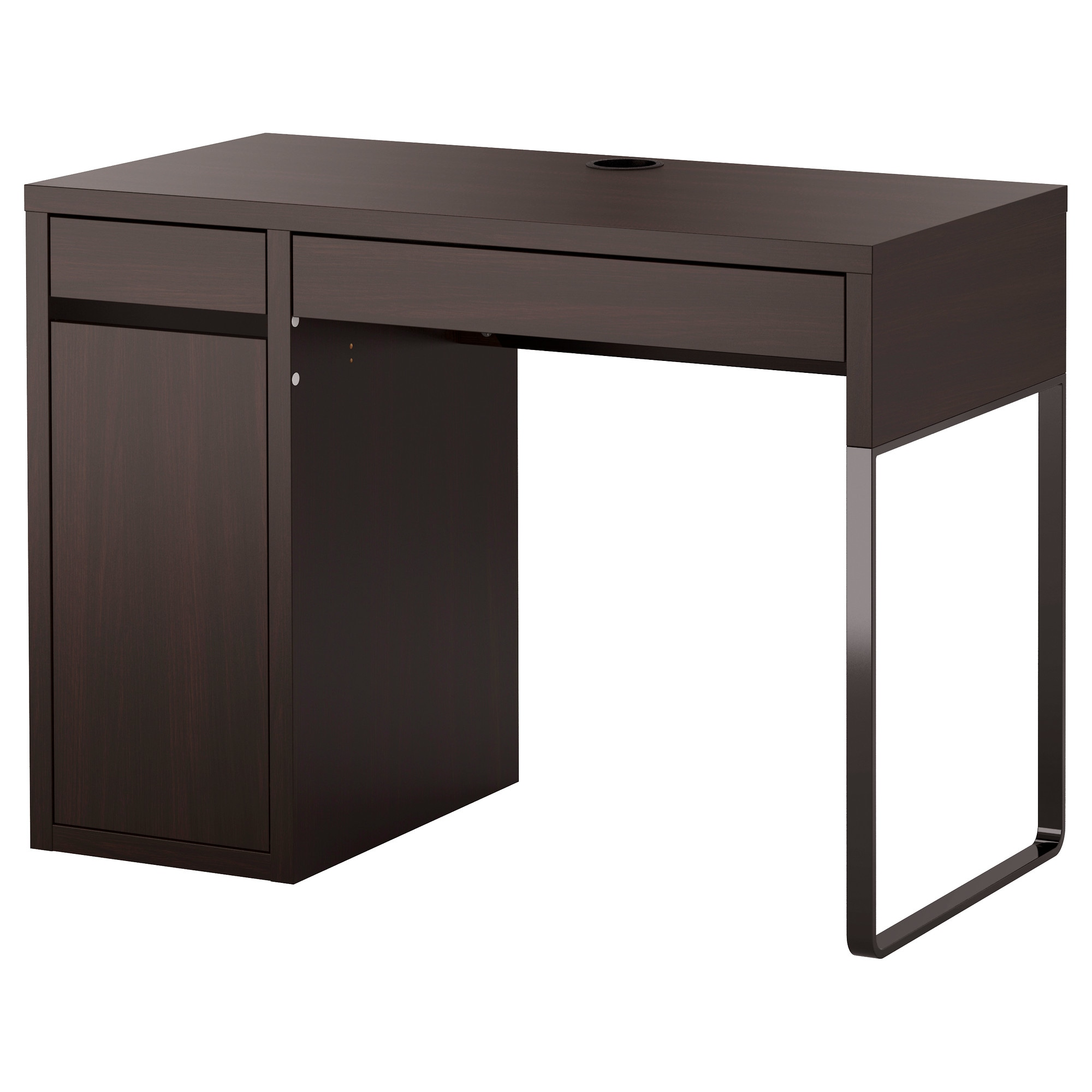 Desk Simple Micke Desk  Blackbrown  Ikea