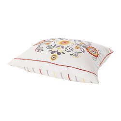 "ÅKERKULLA cushion, multicolor, white Length: 20 "" Width: 24 "" Filling weight: 30 oz Length: 50 cm Width: 60 cm Filling weight: 850 g"
