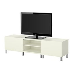 BESTÅ TV storage combination, white Width: 180 cm Depth: 40 cm Height: 48 cm