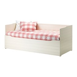 BYGLAND day-bed frame with storage, white Length: 210 cm Width: 90 cm Height: 85 cm