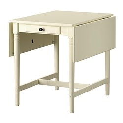 INGATORP drop-leaf table Length: 89 cm Min. length: 59 cm Max. length: 119 cm