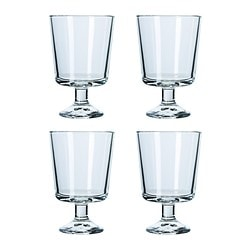 BARSK wine glass, clear glass Height: 11 cm Volume: 21 cl Package quantity: 4 pieces