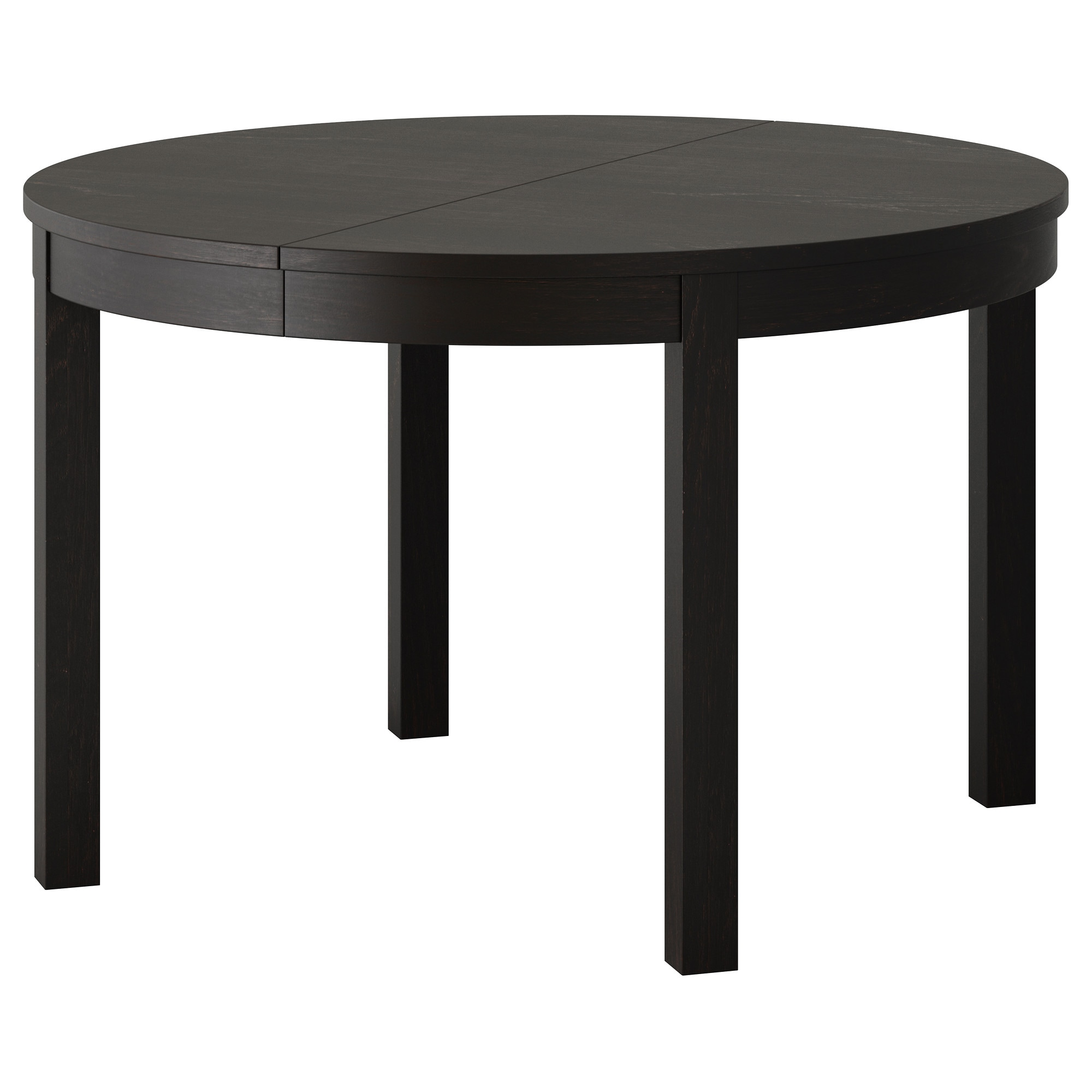 BJURSTA Extendable Table, Brown Black Max. Length: 65 3/8  Part 75