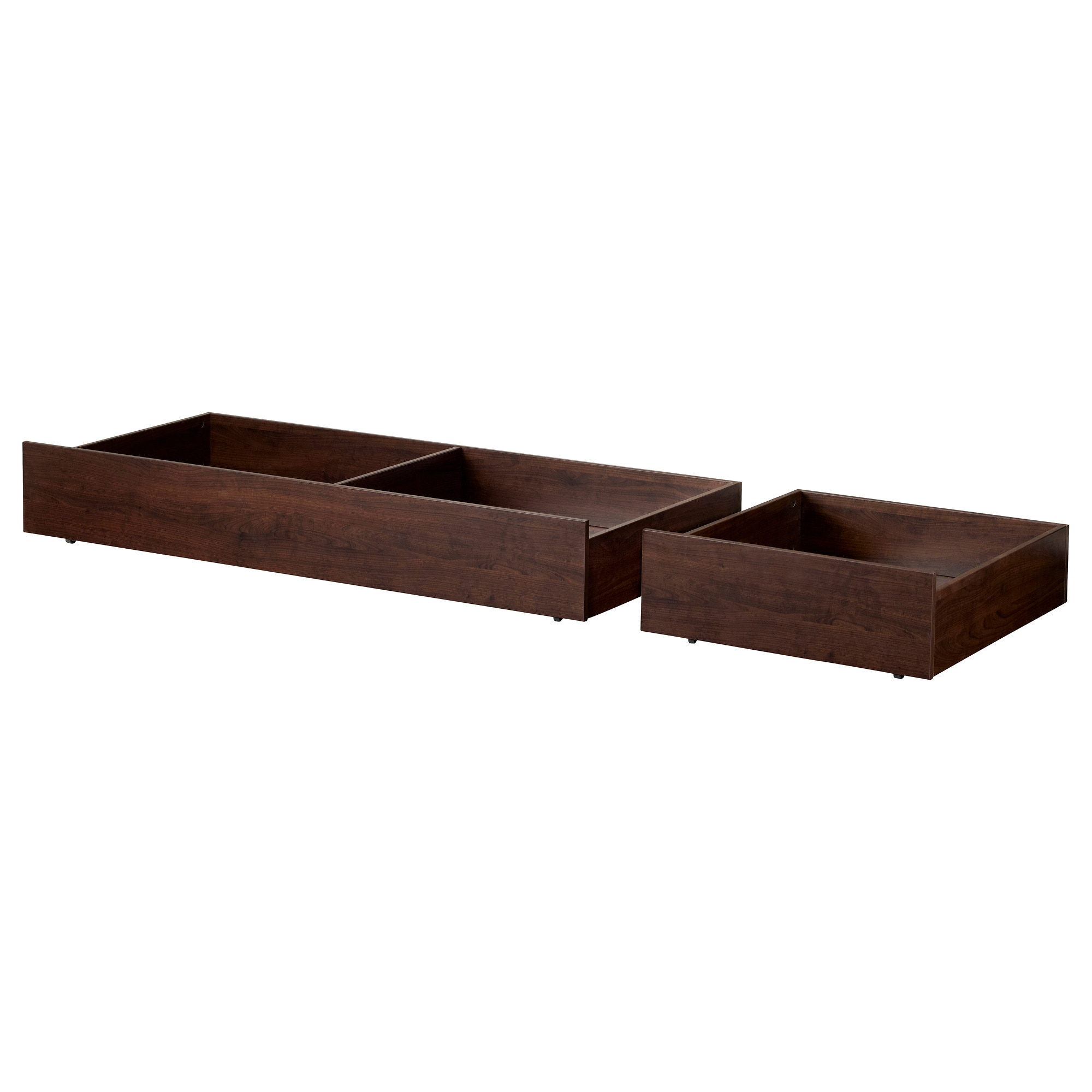 brusali underbed storage box set of 2 brown width 74 38