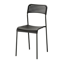 ADDE chair, black Tested for: 110 kg Width: 39 cm Depth: 47 cm