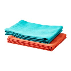 IRIS tea towel, orange, turquoise Length: 70 cm Width: 50 cm Package quantity: 2 pack
