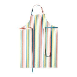 SOMMARKUL apron, multicolour, striped Length: 97 cm