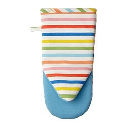 SOMMARKUL oven mitt, striped multicolor