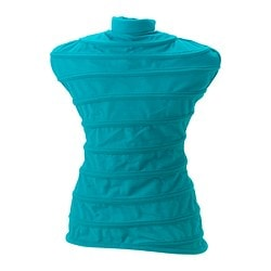 NÄPEN clothes stand cover, turquoise Height: 48 cm
