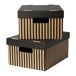 "PINGLA box with lid, black Width: 11 "" Depth: 14 ½ "" Height: 7 "" Width: 28 cm Depth: 37 cm Height: 18 cm"