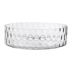 GODKÄNNA bowl, clear glass Diameter: 26 cm Height: 8 cm